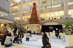 ランドマークプラザのクリスマスツリー