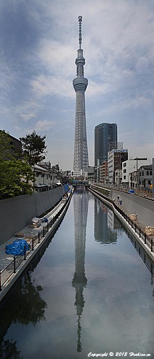 逆さ東京スカイツリー