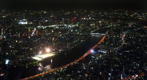 東京スカイツリー天望デッキ夜景