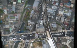 東京スカイツリー天望回廊ジオラマ風に