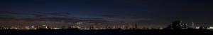 東京夜景(東京タワーと東京スカイツリー)