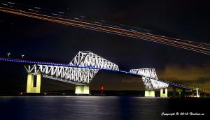 東京ゲートブリッジ8月のライトアップ