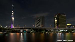 アサヒビールタワーと東京スカイツリー