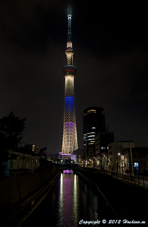 東京スカイツリー五輪誘致特別ライトアップ