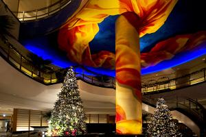 パンパシフィック横浜ベイホテル東急 ロビーのクリスマスツリー