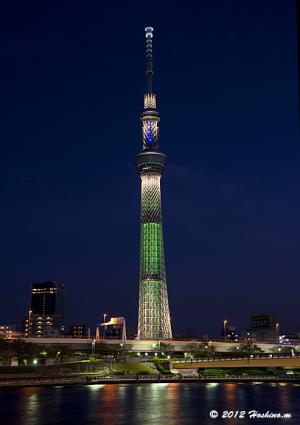 東京スカイツリー・シャンパンツリー・ライティング