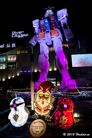 ダイバーシティ東京1/1ガンダムもクリスマスバージョンに