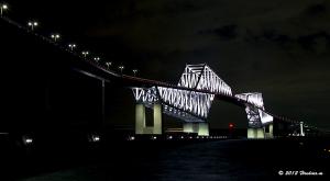東京ゲートブリッジ12月のライトアップ