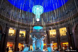 ヴィーナスフォート 噴水広場のイルミネーション