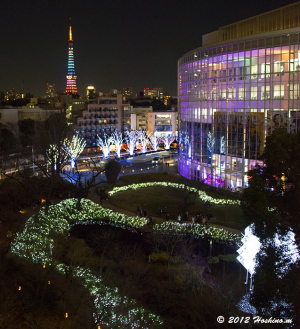 六本木ヒルズ毛利庭園と東京タワーダイヤモンドヴェール クリスマスVer.