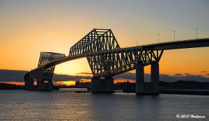 東京ゲートブリッジ の夕陽