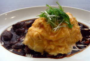 YOSHIMIの十勝牛厚切りステーキ オムハヤシライス