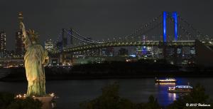 レインボーブリッジ2020年五輪招致特別ライトアップ