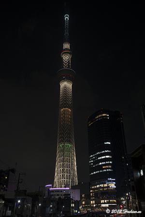 東京スカイツリー2020年五輪招致ライトアップ