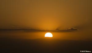 横浜マリンタワーからの夕陽