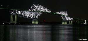 Tokyo Gate Bridge 4月のライトアップ