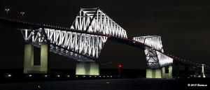 Tokyo Gate Bridge 12月のライトアップ