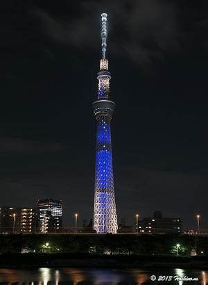 東京スカイツリーの七夕ライティング「夜空」