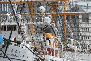 帆船日本丸 総帆展帆