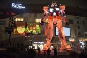 ダイバーシティ東京の実物大ガンダム RG1/1 RX-78-2ガンダムVer.GFT