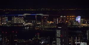 東京ゲートブリッジ 五輪招致ライトアップ