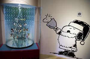 スヌーピー展のクリスマスツリー