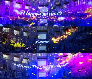"""ドックヤード・プロジェクションマッピング 「Happy Christmas featuring """" Disney The Little Mermaid""""」"""