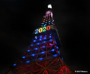 東京タワー オリンピックカラーダイヤモンドヴェール