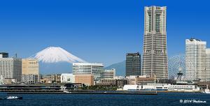 横浜みなとみらいと富士山
