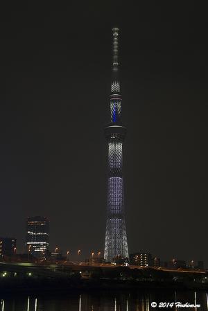 東京スカイツリー 桜特別ライティング「咲」