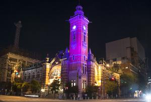 ピンクリボンかながわイルミネーション 横浜市開港記念館