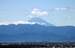六本木ヒルズから見た富士山
