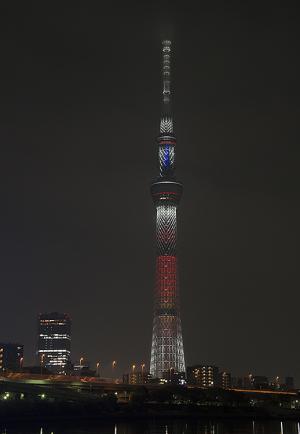 東京スカイツリー・クリスマス限定ライティング キャンドルツリー