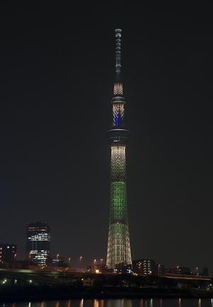 東京スカイツリー・クリスマス限定ライティング シャンパンツリー