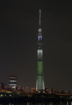 東京スカイツリー・クリスマス限定ライティング