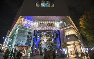 東急プラザ表参道原宿クリスマスイルミネーションOMOHARA WHITE CHRISTMAS 2014
