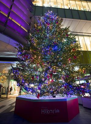 渋谷ヒカリエのクリスマスツリー「ヒカリノキ」