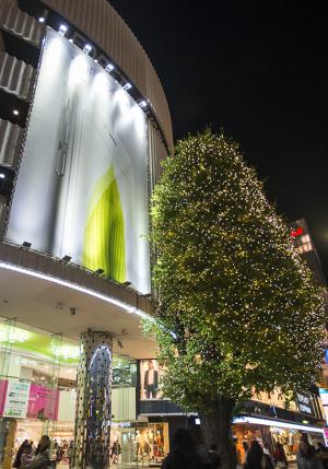 ラフォーレ原宿クリスマスツリー