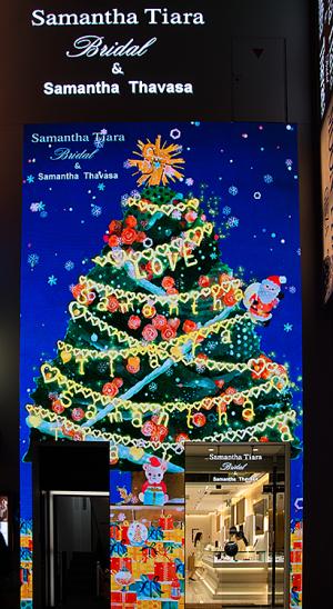 「Samantha Tiara Bridal & Samantha Thavasa 銀座本店」クリスマスツリー