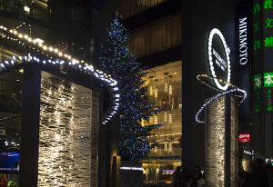 銀座ミキモト クリスマスツリー 2014