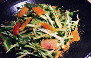 最強の栄養野菜!もりもりクレソンとカラスミのサラダ