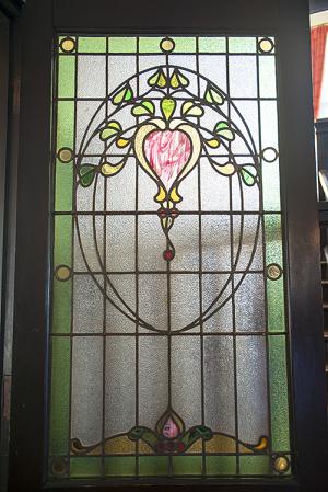 外交官の家(旧内田家住宅)玄関のステンドグラス