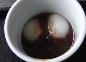 「えぼし」の日替わり小鉢膳 白玉ぜんざい
