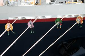 横浜港に入港したにっぽん丸