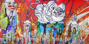 村上隆の五百羅漢図展 白虎