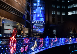 ミューザ川崎のクリスマス・イルミネーション