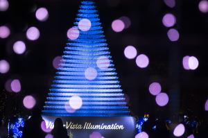 シャンパングラスタワー 昭和記念公園「WinterVistaIllumination2015」