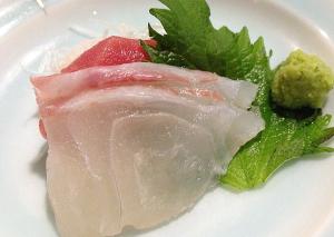本鮪中トロ・真鯛のお造り二種盛り