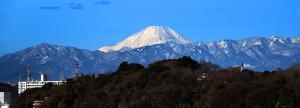 丹沢山地と富士山