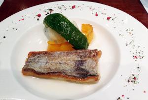 太刀魚のムニエル レモンバターソース Cattlass fish meunière, lemon butter sauce